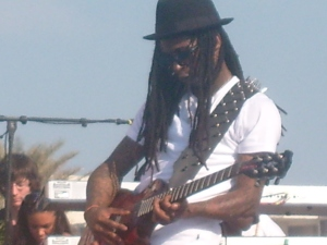 Pic I took of Lil' Wayne playing the guitar 3.12.09